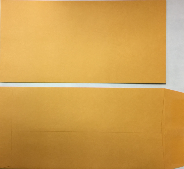 License Plate Envelopes-Blank Moist and Seal
